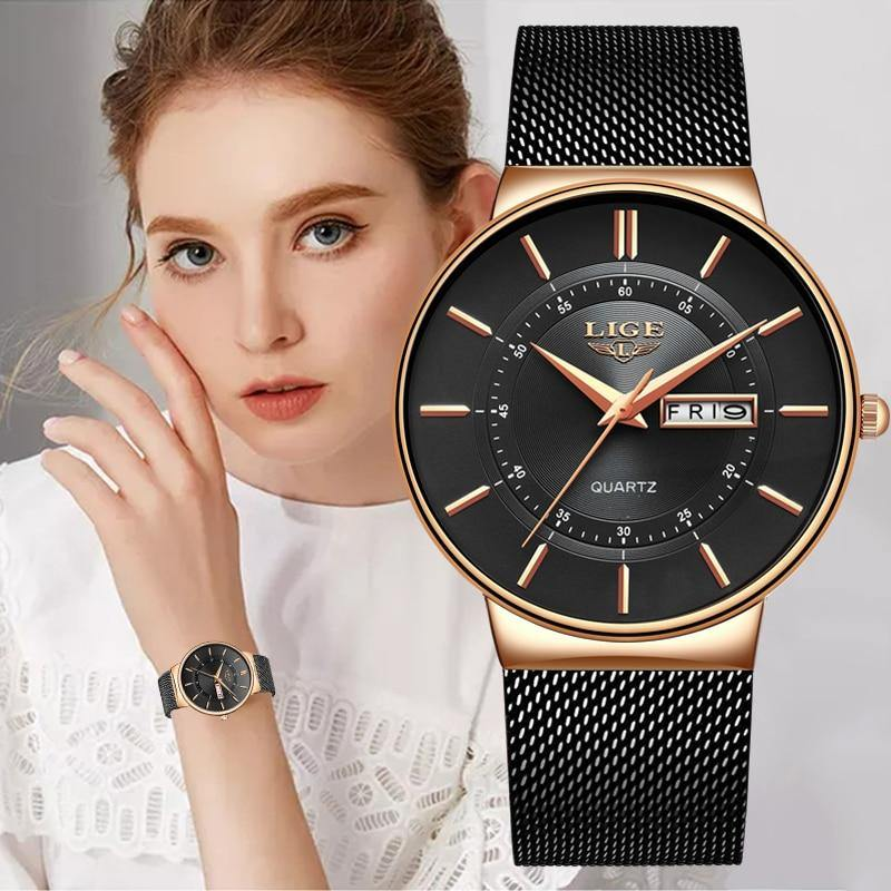 Reloj ultrafino para mujer LIGE modelo 9949 - Virtual Contact