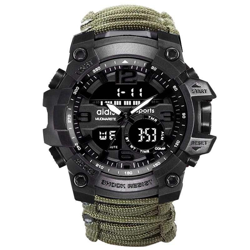 Reloj militar LED Addies modelo MY-1605JF - Virtual Contact