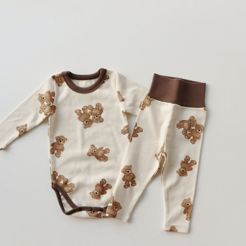 Baby Bear Print Onesie and Leggings Set (3-18m)