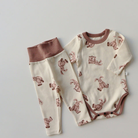 Baby Bunny Print Onesie and Leggings Set (3-18m)