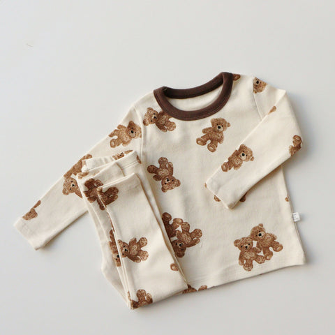 Baby Kids Bear Print T-shirt and Leggings Set (1-5yrs)