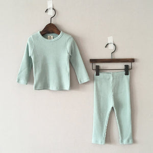 Baby Kids Ribbed T-shirt and Leggings Set (1-5yrs)  - Mint