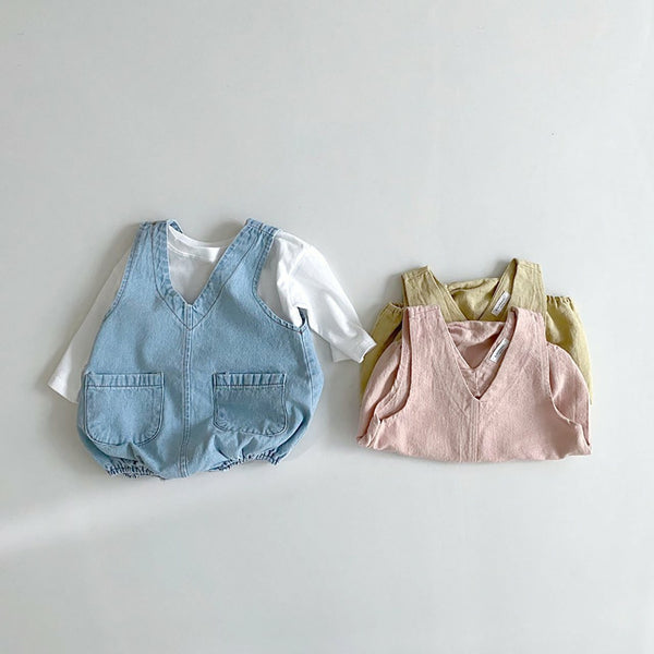 Baby Long Sleeve Tee and Shortall Set (4-15m) - Blue