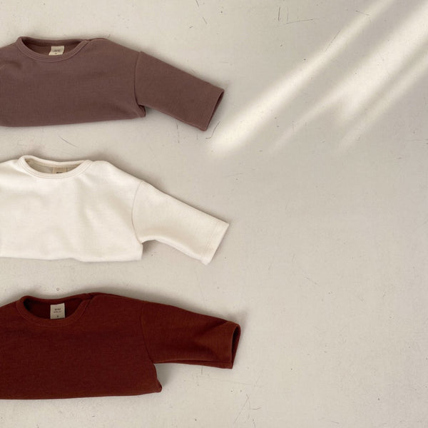 Baby Long Sleeve Winter Curved Hem T-Shirt (12-18m) - Cream, Brown