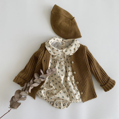 Baby Rib-Knit Cardigan (2-5yrs) - Brown