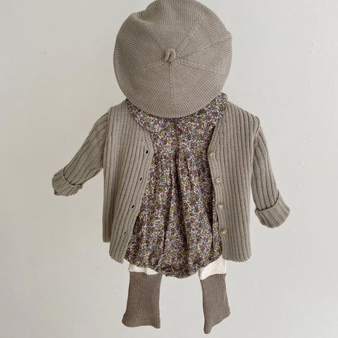 Baby Rib-Knit Cardigan (2-5yrs) -Gray