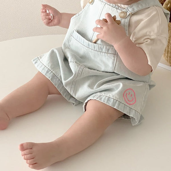 Baby Short Sleeve T-Shirt and Shortall Set (4-15m)