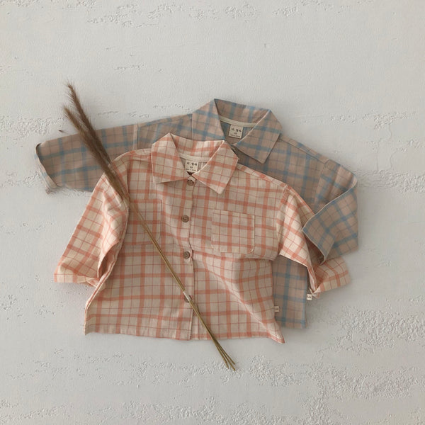 Baby Toddler Spring Flannel Shirt (1-5y) - Orange