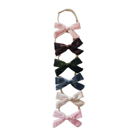Baby Velvet Bow Headband - 6 Colors