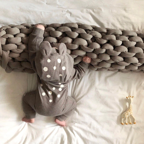 Baby Bambi Hooded Jumpsuit - Gray