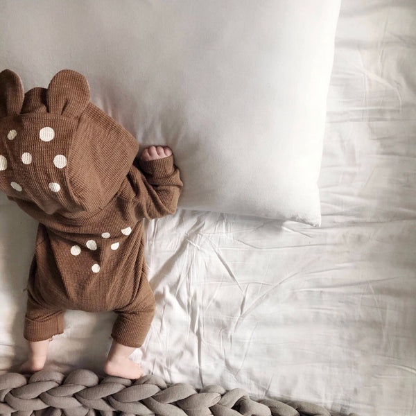 Baby Bambi Hooded Jumpsuit - Brown