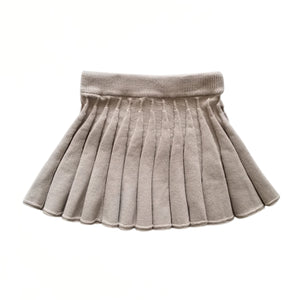 Girls Pleated Knitted Skirt (2-5y) - Sand