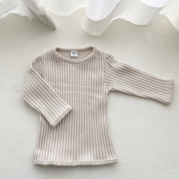 Girls Soft Rib-Knit Top (3m-4y) - Beige