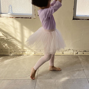 Kid Ballerina Leggings (1-5y)- Pink