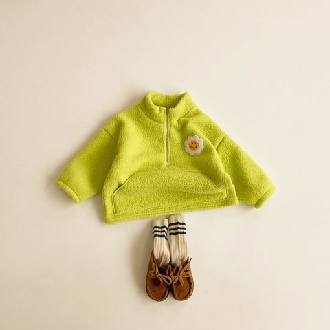 Kids Half-Zip Fleece Pullover (2-5y) - Green