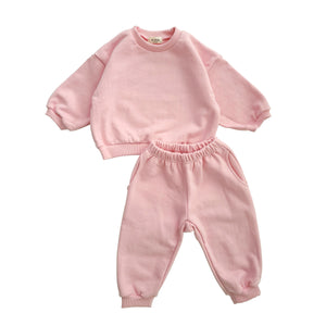 Kids Sweatshirt & Jogger Pants Set (1-5yrs) - Pink