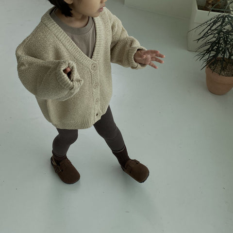 Kids V-Neck Oversized Cardigan (1-4y)