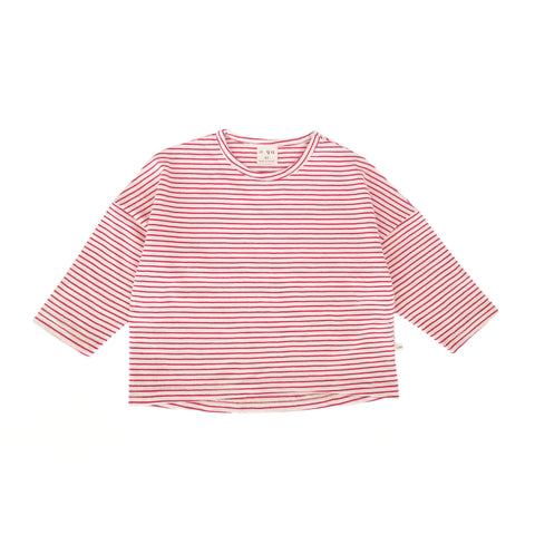 Long Sleeve Striped T-Shirt (5-6y) - Red