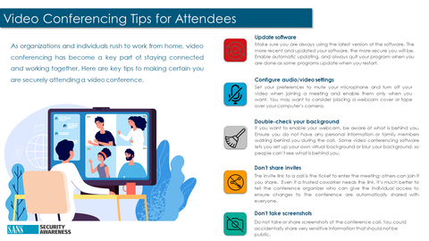 Tips for Secure Video Conferencing