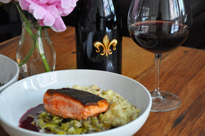 Wulf's & Troquet Meal Kits: Ora King Salmon with Crushed Fingerling Potatoes and Melted Leeks with Sauce Beurre Rouge