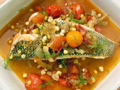 Chefs at Home: Black Sea Bass in Crazy Water