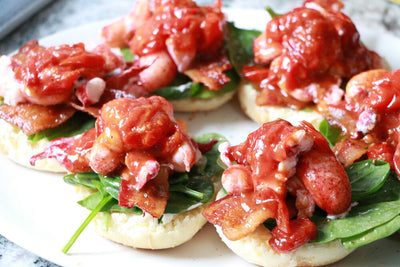 Chefs at Home: Butter-Poached Open-Face Lobster BLT's
