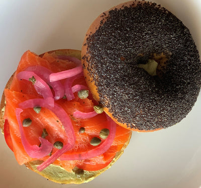 Chefs at Home: Ora King Salmon Lox with Bagels, Zhoug Labne, and Pickled Onions