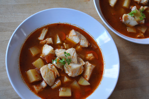 Smoky Red Pepper Fish Soup