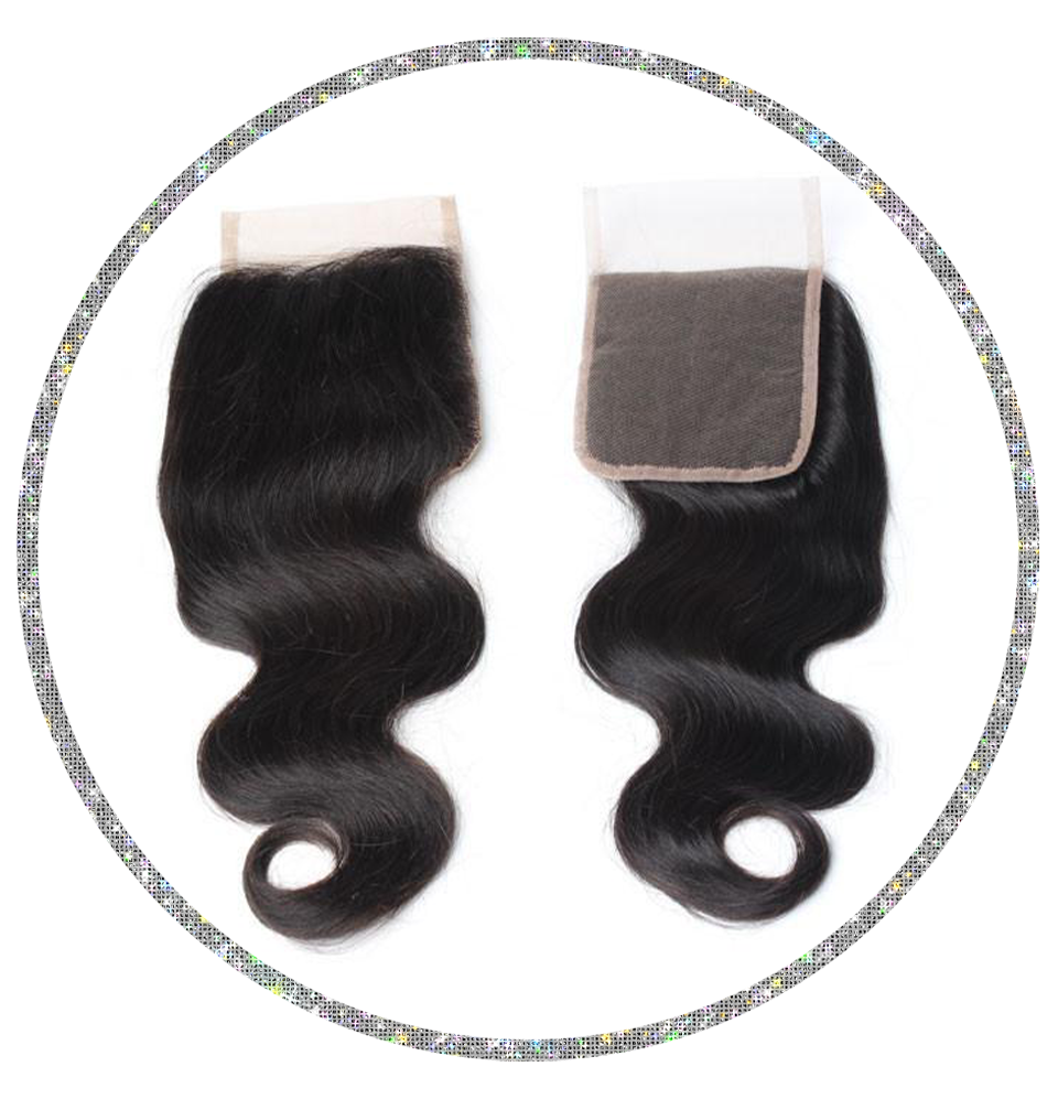 100% Virgin Body Wave 4x4 Closure