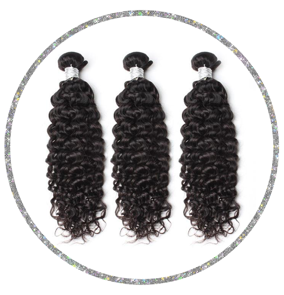 100% Virgin Hair Deep Curly Bundles Deals