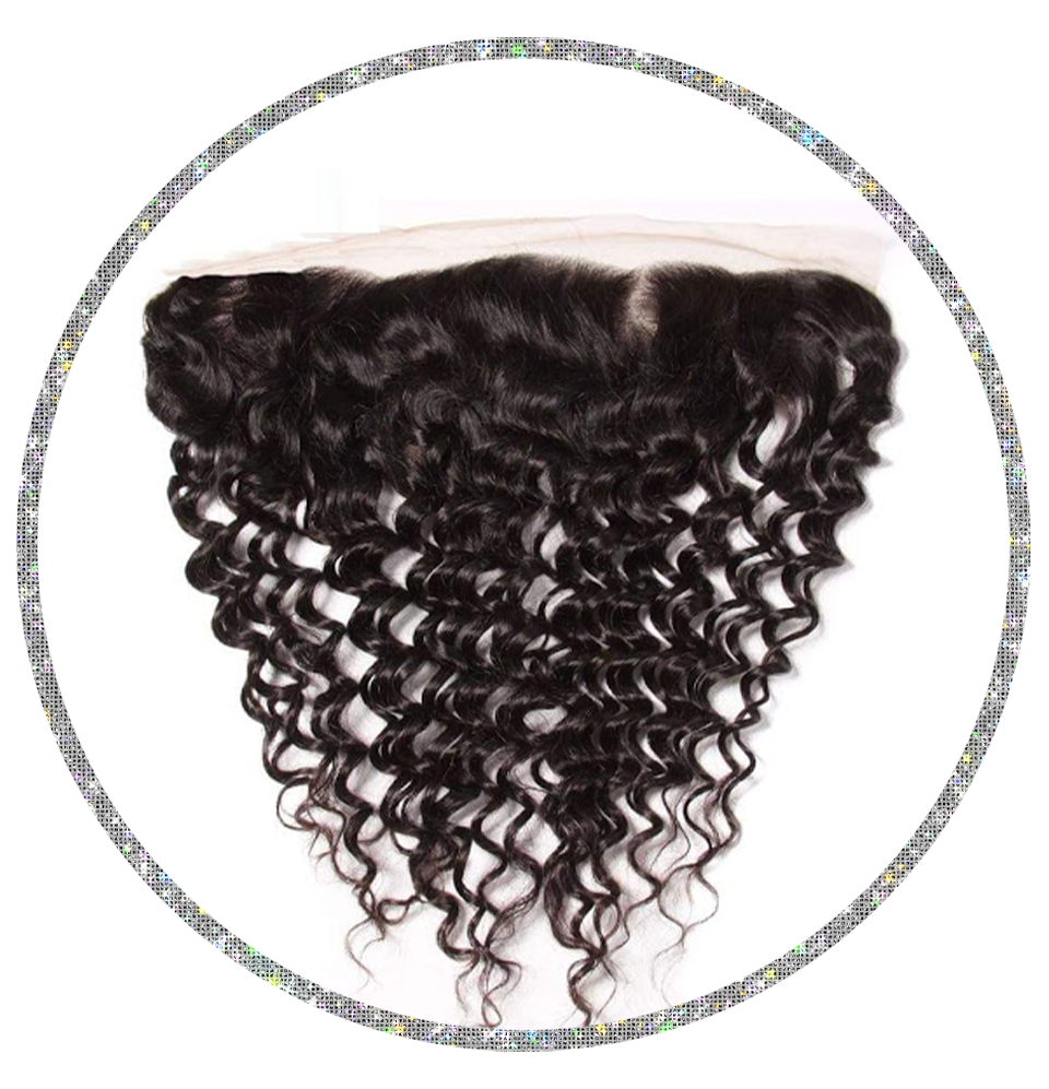 100% Virgin Deep Curly 13x6 Frontal