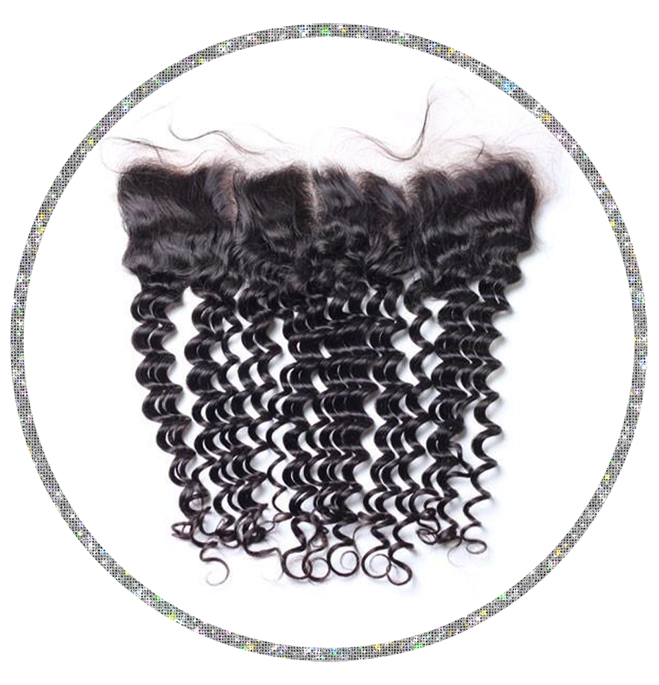 100% Virgin Deep Wave 13x6 Frontal