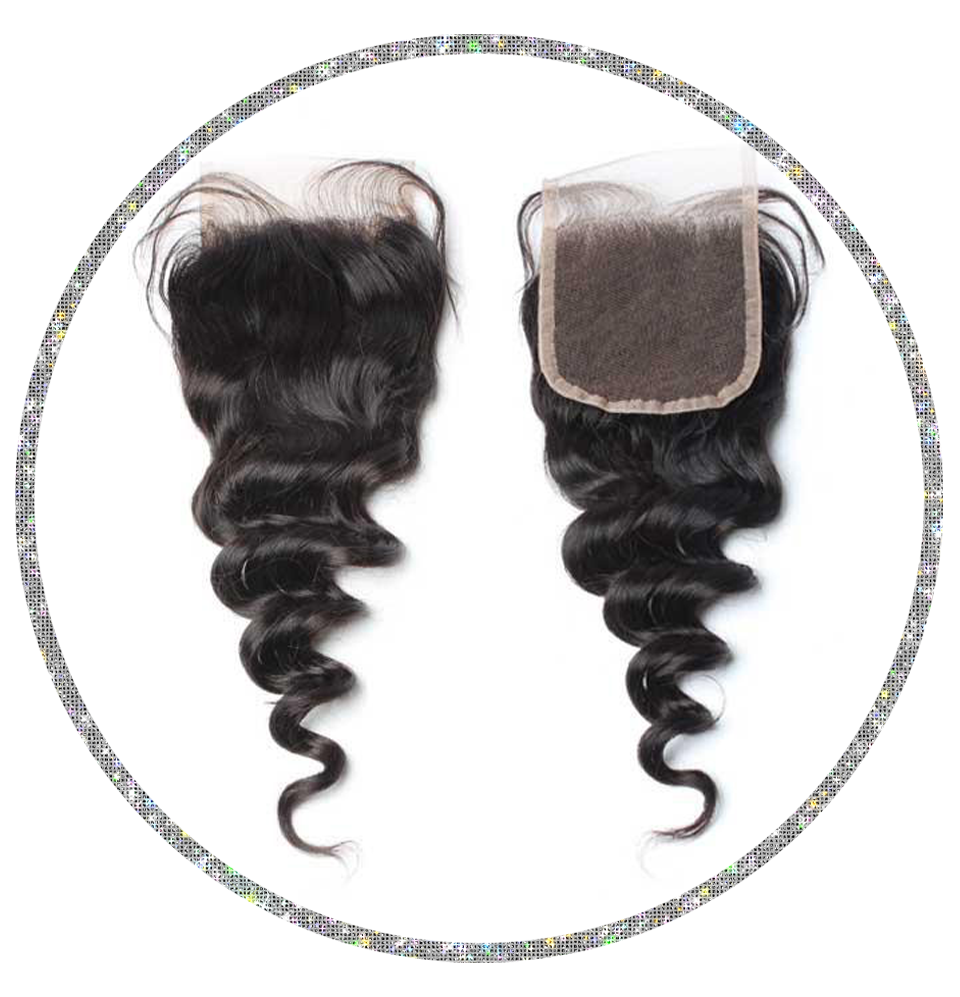 100% Virgin Loose Wave 4x4 Closure