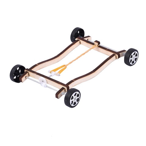 Rubber Band Powered Car DIY