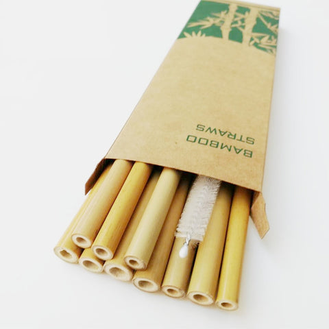 Unique 10 Piece Eco Friendly Bamboo Straws