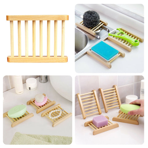 Modern Organic Bamboo Soap Dishes