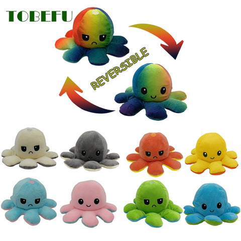ADORABLE REVERSIBLE PLUSH OCTOPUS
