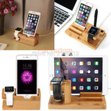 Stylish Bamboo Charging Dock for All Phones