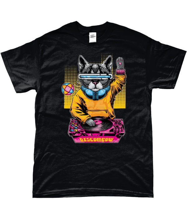 Disco Cat - Epic Fashion UK Unisex T-Shirt Crew Neck Cotton - Epic Fashion UK