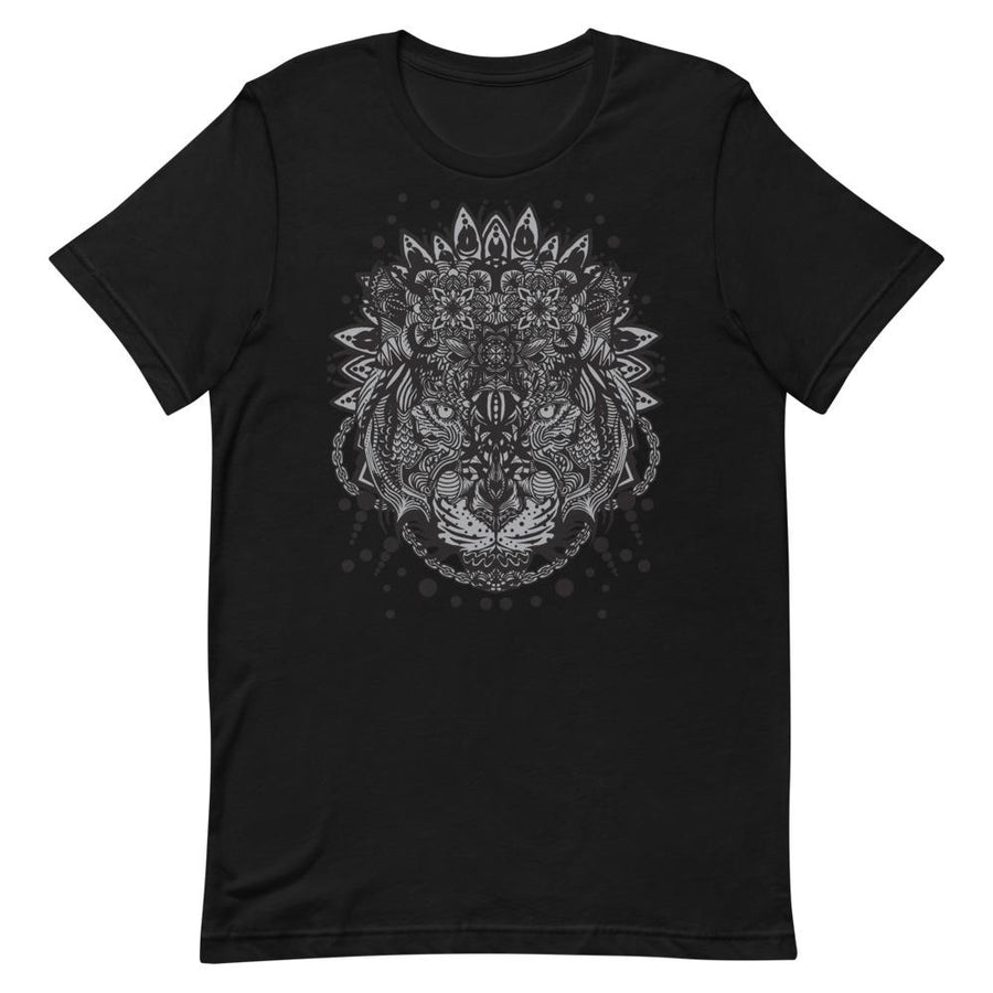 White Tiger Mandala Epic Fashion UK Unisex T-shirt Cotton - Epic Fashion UK