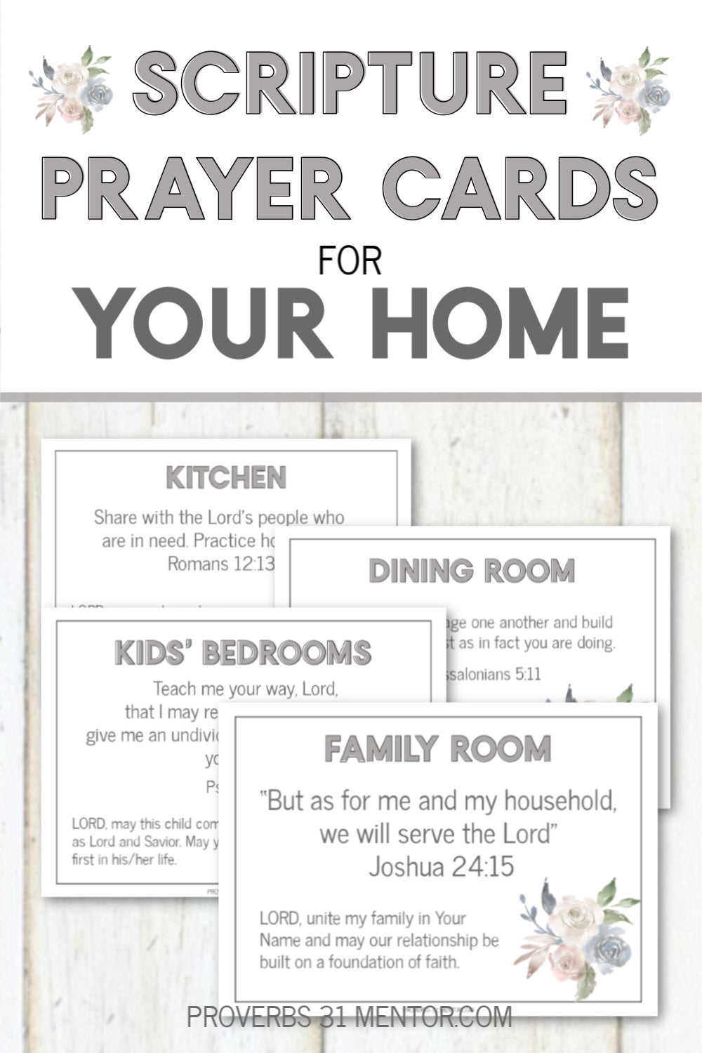 Scripture Prayer Cards for the Home