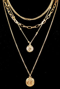 Multi Layer Coin with Chain Necklace
