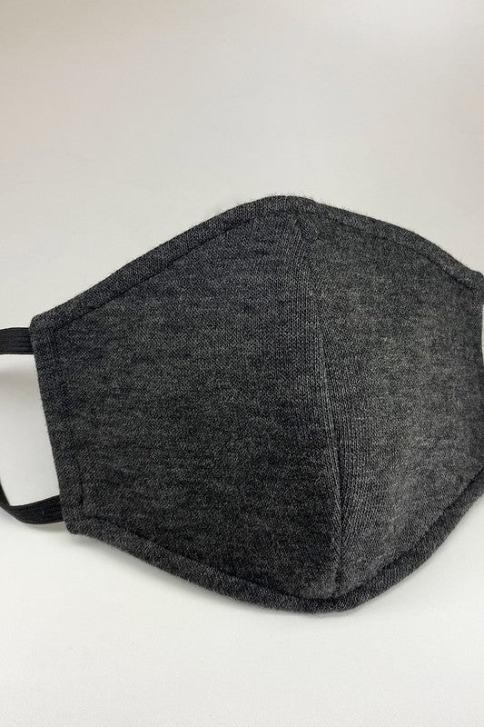 Unisex Dark Charcoal Triple Layer Filtered Reusable Face Mask