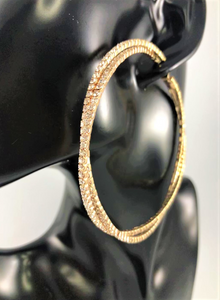 Glam Pave Double Hoop