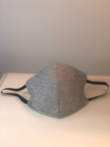 Unisex Grey Triple Layer Filtered Reusable Face Mask