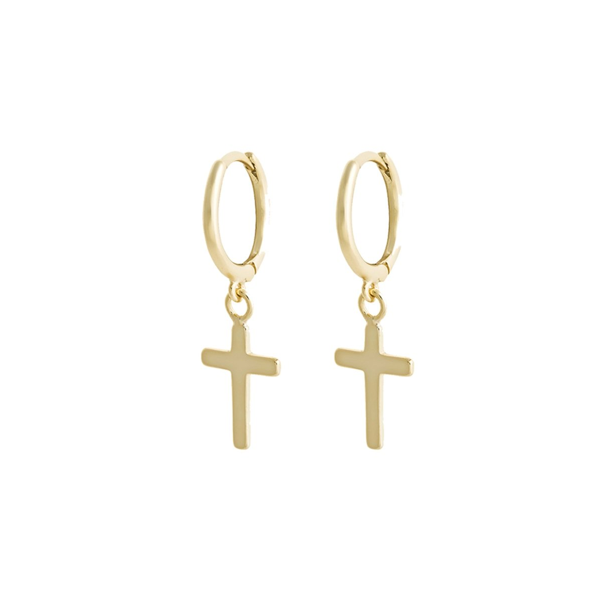 CROSS GOLD EARRINGS