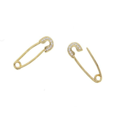 BABY SAFETY PIN EARRINGS