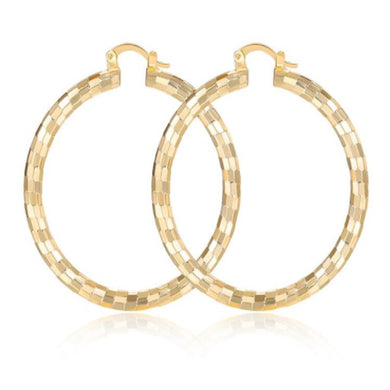 BERRY GOLD HOOPS