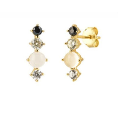 BINDLEGUM GOLD STUD EARRINGS