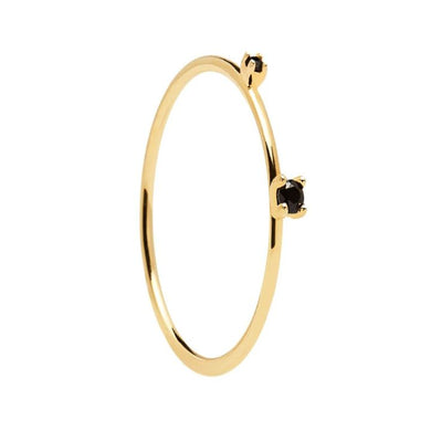 BLACK KITA GOLD RING